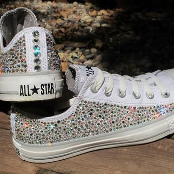 swarovski crystal converse all stars including the shoes read description