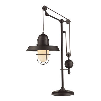 Farmhouse Table Lamp in Oiled Bronze Oiled Bronze
