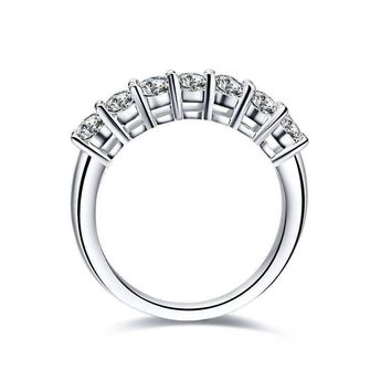 Arienne .38CT Petite Cathedral Pavé Band IOBI Simulated Diamond Ring