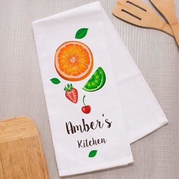 Personalized Fruit Dish Towel