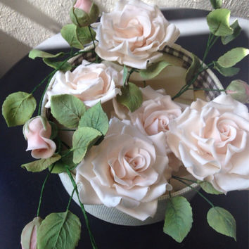 Gumpaste Rose, Sugar Rose Wedding Cake Topper, Bridal Cakes