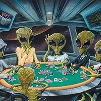 Texas Hold'em Poker UFO Alien Motivational Poster Art Print 11x14 Area 51 Wall Decor Pictures