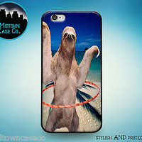 Hula Hoop Sloth Party Tumblr Vine Case for iPhone 7 6s 6 Plus SE 5s 5 5c iPod
