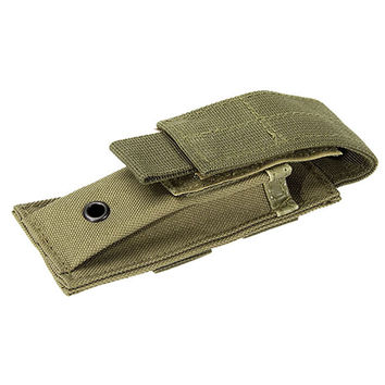 Multifunction Practical Tactical Nylon Flashlight Holster Folding Knife Pouch Magazine Pouch Hunting Camping Outdoor Sports