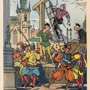 Postcard Drawing by V. Alfeyevsky for Czech Fairy Tale -- 1960, Izogiz Publ.