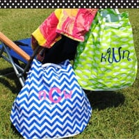 Green Woven Design Beach Bag Personalized for FREE by BeachyMommas