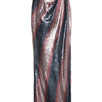 DCCKIN3 Johanna Ortiz Striped Sequin Maxi Skirt