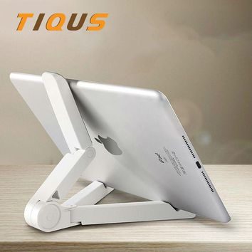 Universal Folded Desktop Tablet Bracket Cellphone Stand For ipad Air Mini For iphone 6 7 Plus Desk Holder Stand For Ipad Iphone