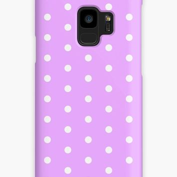'Classic polka dots pattern, retro white and pastel pink' Case/Skin for Samsung Galaxy by cool-shirts