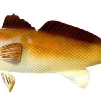 "28"" Steel Redfish Red Drum hand painted hanging  LEFT"