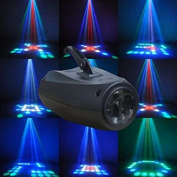 Supertech 7 Color Changing 3W RGB Crystal Magic Rotating Ball Effect Led Stage Lights For KTV Xmas Party Wedding Show Club Pub Disco DJ
