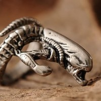 Gothic Rare Alien Copper Ring Terror Cosplay Ring 0320 Free Shipping