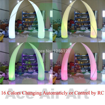 Cheapest Wonderful 16  colors Changing LED Portable Light  Inflatable Wedding Decorations  Inflatable Tusk  with Remote Control