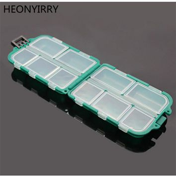 Waterproof Fishing Tackle Boxes 10 Compartments Storage Case Box Plastic Fishing Lure Spoon Hook Bait Tackle Box Small Accessory