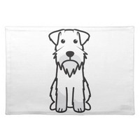 Miniature Schnauzer Dog Cartoon Cloth Placemat