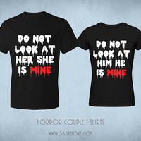 [Halloween★] Do Not Look Couple T-Shirt (Price of One)