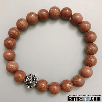 DREAMS: Goldstone | Dragon | Yoga Chakra Bracelet