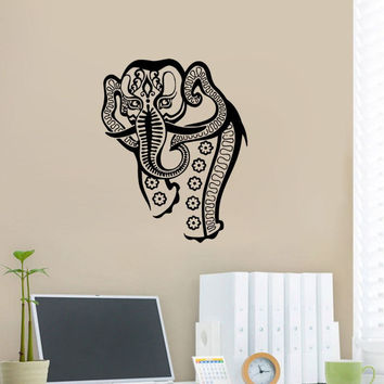 Elephant Mandala Front Vinyl Wall Decal