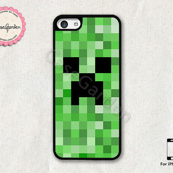 Minecraft Creeper iPhone 5C Case, iPhone Case, iPhone Hard Case, iPhone 5C Cover