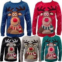 MENS LADIES 3D RUDOLPH C...