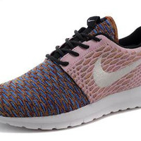 NFR002 - Nike Flyknit Roshe Run(Beige/Multi-Color/White)