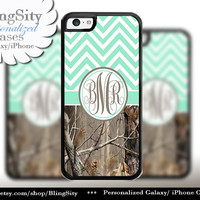 Mint Chevron Monogram iPhone 5C 6 Case Plus iPhone 5s 4 Ipod 4 5 Touch case Real Tree Camo Zig Zag Personalized Country Girl