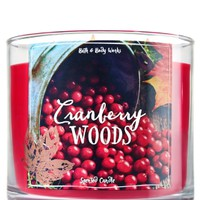 3-Wick Candle Cranberry Woods