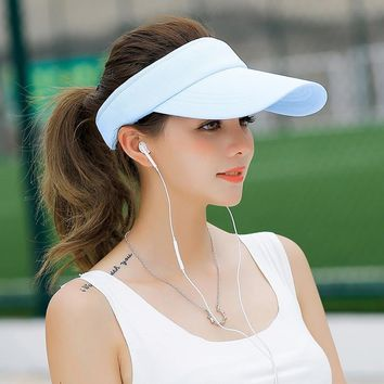 SORRYNAM Visor Hat Summer Women's Sun Brand Hat Baseball Caps Adjustable Size Viseira Beanies Beach Empty Top Cap MZ1740