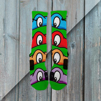 NINJA TURTLES TMNT CUSTOM NIKE ELITE SOCKS