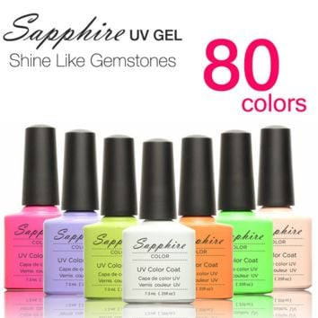 80 Colors Sapphire Soak-off Gel Nail Polish