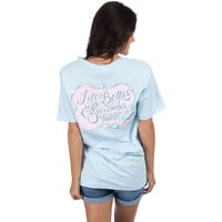 Life is Better in Seersucker Tee 2.0 in Light Blue by Lauren James - FINAL SALE