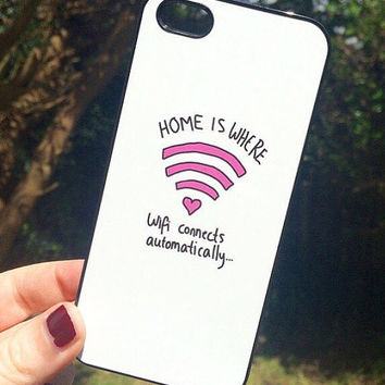 Iphone 6 6 Plus Phone Case Home Is Where The Wifi Is Print Hipster Phone Cover