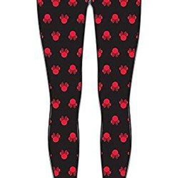 Disney Minnie Mouse Silhouette Minzana Leggings Junior Women