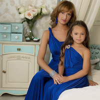 "Mother daughter matching dress! Blue Maxi Dress ""One Tones "" /   Mom and daughter dresses, mommy and me outfits, matching mom and baby"