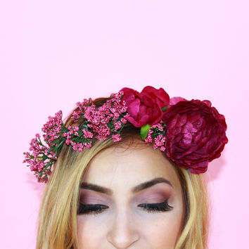 Flower Crown - Berry Me Alive