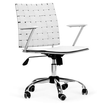Turner Office Chair, White, Desk Chairs