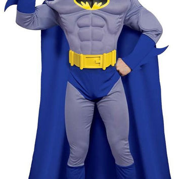 batman brave & bold deluxe muscle chest adult costume | (large)
