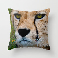 SPOT THE CHEETAH Throw Pillow by catspaws