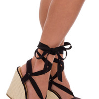 Corynne Wedge - Black