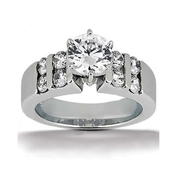 G SI1 Diamonds 1.81 ct. solitaire 18K solid white gold ring