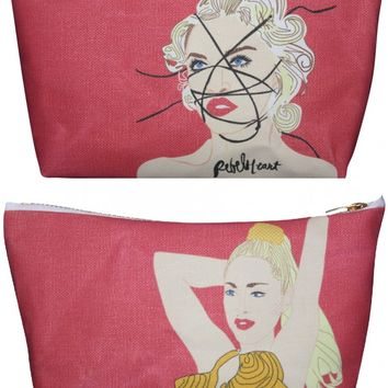 Madonna Pop Zipper Pouch and Makeup Bag – Illustrated and Handmade in the USA