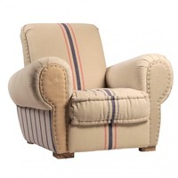 Oliver Club Chair in White Cotton/Linens