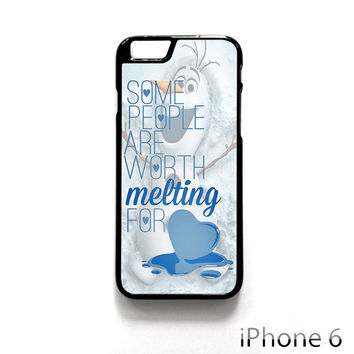 Some People Are Worth Melting For Olaf Funny Quote for Iphone 4/4S Iphone 5/5S/5C Iphone 6/6S/6S Plus/6 Plus Phone case