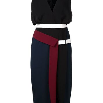 Peter Pilotto contrast panel fitted dress