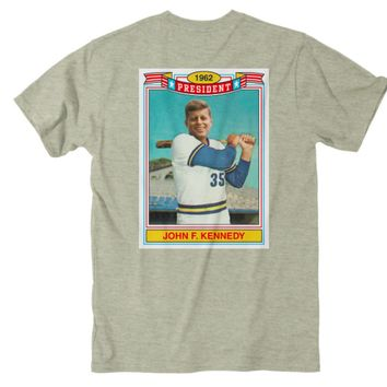 Rowdy Gentleman JFK Rookie Card S/S Pocket Tee - Oatmeal Heather