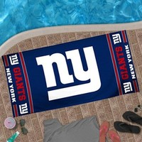 "New York Giants 30"" x 60"" Logo Beach Towel - Royal Blue"