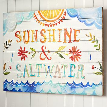 "Katie Daisy ""Sunshine + Saltwater"" Watercolor Art"