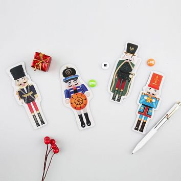 30 pcs/lot novelty Nutcracker postcard heteromorphism greeting card christmas card birthday message card gift cards