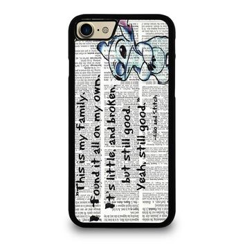 LILO AND STITCH QUOTES Disney iPhone 7 Case Cover