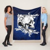 Skull Cameo 1 Fleece Blanket